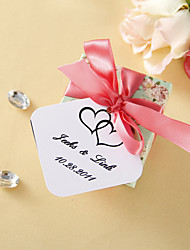 Personalized Favor Tags - Double Heart (set of 36)