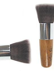 billiga -Hög kvalitet Syntetiskt hår Bamboo Handtag Multifunktions Smink Flat Blusher / Powder Kabuki Brush