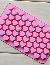 cheap -Love Heart Shape Chocolate Tray, Silicone 55 Holes(Color Randoms) CM-87