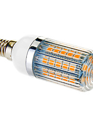 billige -650 lm E14 LED-kornpærer T 47 LED perler SMD 5050 Varm hvit 100-240 V
