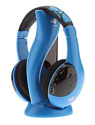 Hi-fi stereo senza fili confortevole cuffia blu