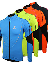 Arsuxeo Cycling Jacket Men's Bike Jersey Top Winter Fleece Bike Wear Thermal / Warm Fleece Lining Breathable Patchwork Leisure Sports