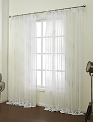 zwei Panele Window Treatment Neoklassisch , Neuheit Schlafzimmer Polyester Stoff Gardinen Shades Haus Dekoration For Fenster