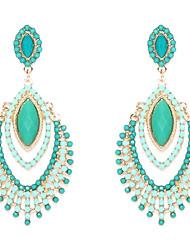 Damen Tropfen-Ohrringe Luxus-Schmuck Modeschmuck Harz Diamantimitate Aleación Schmuck Für Hochzeit Party Alltag