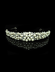 imitace perel z drahých slitin tiaras headpiece elegantní styl