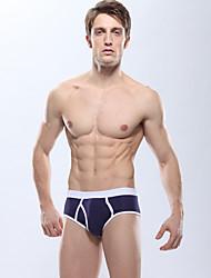 cheap -Men's Boxers Underwear Solid Color Mid Waist