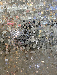 cheap -Modern Fancy Translucent Cobblestones Window Film