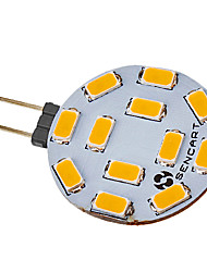 cheap -5W G4 LED Spotlight 12 leds SMD 5730 Warm White Cold White 420-500lm 2800-3000K DC 12 AC 12V