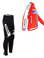 Kooplus Fahrradhose mit Jacke Herrn Langarm Fahhrad Kleidungs-Sets warm halten Fleece Innenfutter Feuchtigkeitsdurchlässigkeit tragbar
