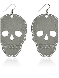 cheap -Drop Earrings Alloy Skull / Skeleton Gray Jewelry Party Halloween Daily Casual 2pcs