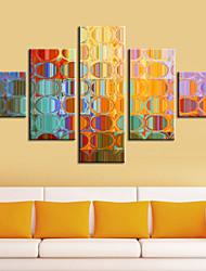 abordables -Reproduction transférée sur toile Art abstrait Miroirs colorés Ensemble de 5