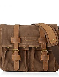 cheap -Unisex Bags Other Leather Type Canvas Satchel for Casual All Seasons Black Brown Green Khaki