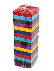 Недорогие -48PCS особых Цвета Дерево Материал Jenga Блок игры игрушки Установить с 2 Dices