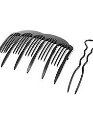 abordables -2pcs tuerza el pelo Tenedor (de gran tamaño)
