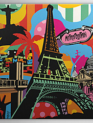 Stretched Canvas Art Pop Art Lanscape Eiffel Tower Ready to Hang