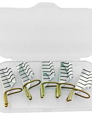 5pcs réutilisables formes d'art d'ongle en métal argenté pour acryliques et UV conseils de gel