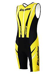 economico -Kooplus Tuta da triathlon Per uomo Per donna Unisex Senza maniche Bicicletta tute Set di vestiti Asciugatura rapida Permeabile