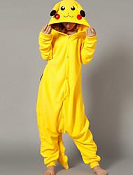 Kigurumi Pajamas Pika Pika Leotard/Onesie Festival/Holiday Animal Sleepwear Halloween Yellow Patchwork Polar Fleece Kigurumi For Unisex