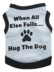 Cane T-shirt Abbigliamento per cani Lettere & Numeri Grigio