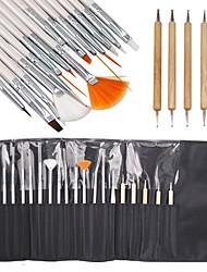 15Stk. Maleri Børste Og 5Stk. Dobbelthovedet Prikke Værktøj Neglekunst Sæt Forsigtigt Pakket