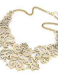 Недорогие -Жен. Воротничок Заявление ожерелья Цветы Дамы европейский Мода Сплав Серебряный Золотой Ожерелье Бижутерия Назначение Для вечеринок Повседневные