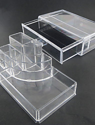 cheap -Acrylic Transparent Complex Combined Double Layer Cosmetics Storage with Drawer Cosmetic Organizer