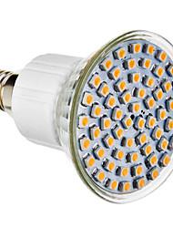 E14 LED-spotlys 60 leds SMD 3528 Naturlig hvid 300lm 4100K Vekselstrøm 220-240V
