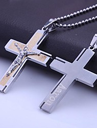 Personalized Gift  Stainless Steel  Jewelry Bible Cross Shaped  Engraved Pendant Necklace with 60cm Chain