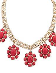 Недорогие -Btime Женская мода Деликатес цветок Шарм ожерелье
