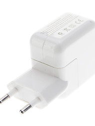 billige -EU-Type USB Power Adapter til iPad / iPhone (Hvid)