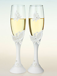 Butterfly Design Wedding Toasting Flutes Wedding Reception Beautiful