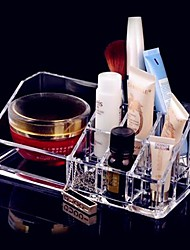 cheap -Acrylic Transparent Cosmetics Storage Stand Makeup Brush Pot Quadrate Cosmetic Organizer