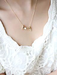 Недорогие -Жен. Ожерелья с подвесками - Сердце, Любовь Простой стиль Серебряный, Золотой Ожерелье Бижутерия Назначение Для вечеринок, День рождения, Подарок