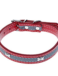 Katzen / Hunde Halsbänder Reflektierend / Regolabile/Einziehbar Rot / Schwarz / Blau / Rose PU Leder