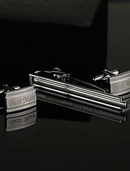 cheap -Zinc Alloy Cufflinks & Tie Clips Groom Groomsman Wedding Anniversary Birthday Business