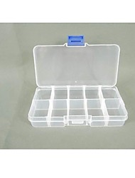 cheap -Plastic Square Shaped Household Storage Box Case Home Organizer Earring Jewelry Container