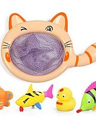 Недорогие -Cute Красочные Кошка образный Чистая ролях и Ванна Рыба Набор