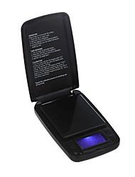 500g / 0.1g elettronico digitale scala dei monili della tasca oro del peso di display Balance LCD con retroilluminazione blu