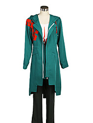 cheap -Inspired by Dangan Ronpa Cosplay Video Game Cosplay Costumes Cosplay Suits Color Block White / Black / Green Coat / Vest / Pants