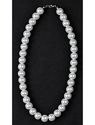 cheap -Women's Pearl Imitation Pearl Pearl Necklace Strands Necklace - Silver / Black Ivory Necklace For Wedding Daily Casual
