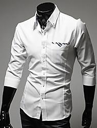 Contraste des couleurs de poche Couture Tee shirt