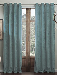 Rod Pocket Grommet Top Tab Top Double Pleat Two Panels Curtain Modern Solid Living Room Polyester Material Curtains Drapes Home Decoration