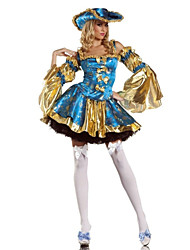 cheap -Marie Antoinette Kostüm Deluxe Blue Polyester Women's Carnival Party Costume