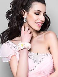 Недорогие -прекрасный белый с розовой пены цветок свадьба девушки цветка / свадебные запястье цветок
