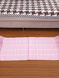 Элейн чистого хлопка розовый вафли проверка ковер 333648