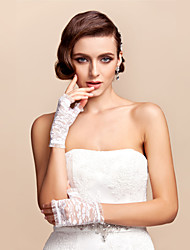 Wrist Length Half Finger Glove Lace Bridal Gloves Spring Summer Fall