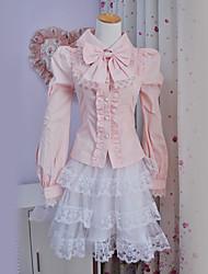 cheap -Sweet Lolita Dress Princess Women's Blouse/Shirt Cosplay Long Sleeves Lolita