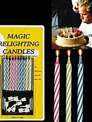 Недорогие -10PCS смешанного цвета Магия Relighting Свечи Практические гаджеты шутки