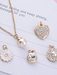 cheap -Women's Shape Jewelry Set Pendant Necklace Imitation Pearl Rhinestone Alloy Jewelry Set Pendant Necklace Party Daily Casual Costume