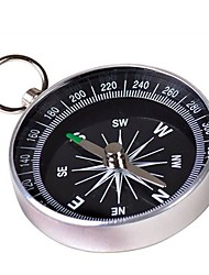 cheap -Portable Metal Compass with Keychain(Large) - Silver